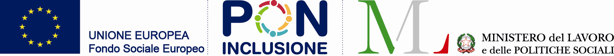 Logo unione europea, PON inclusione