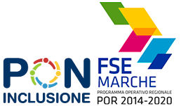 Logo PON Inclusione e logo FSE Marche